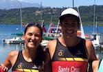 8255004f75abd La pareja de triatletas de Pucón Tomás Santa Cruz y Victoria Mansilla se  llevaron el triatlón sprint de Villarrica que se realizó hoy en formato  sprint y ...